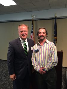 Gerry Dick, Inside Indiana Business, and Todd Saxton, The Venture Club of Indiana